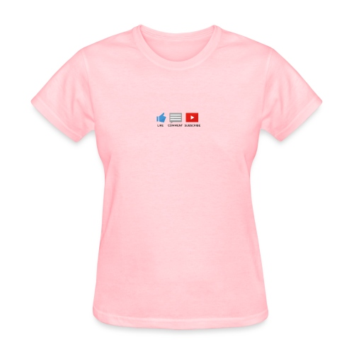 small - like, comment, subscribe - Women's T-Shirt
