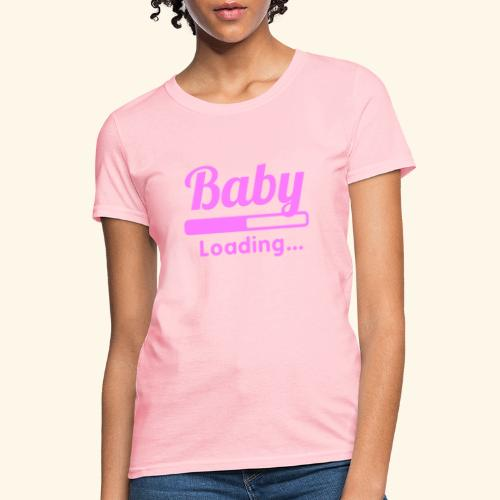 Pink Baby Loading - Women's T-Shirt