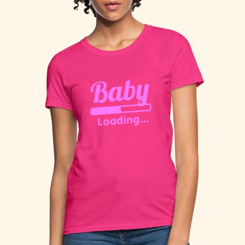 Pink Baby Loading - Women's T-Shirt