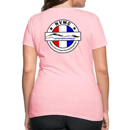 Circle logo t-shirt on white with black border - Women's T-Shirt