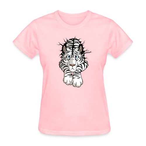 STUCK Tiger White (double-sided) - Women's T-Shirt