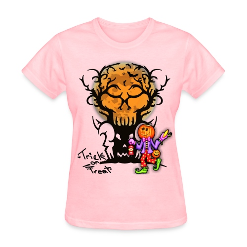 Trick Or Treat T-shirt | Halloween Tee - Women's T-Shirt