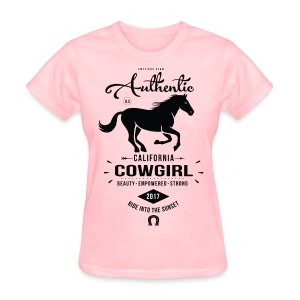 Authentic California Cowgirl Design - Women's T-Shirt