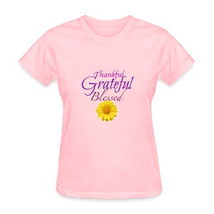 Thankful grateful blessed - Women's T-Shirt