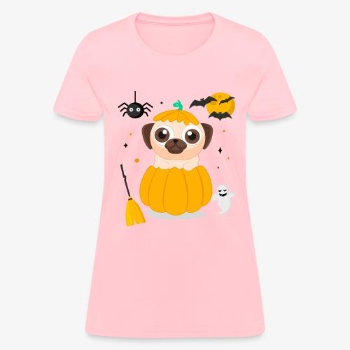 I love Halloween Pug Dog T-Shirt - Women's T-Shirt