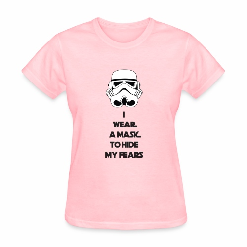 Storm Troopers Mask - Black Text - Women's T-Shirt