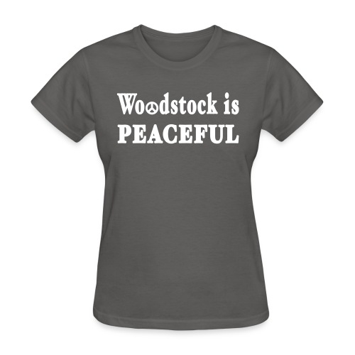 New York Old School Woodstock is Peaceful - Women's T-Shirt
