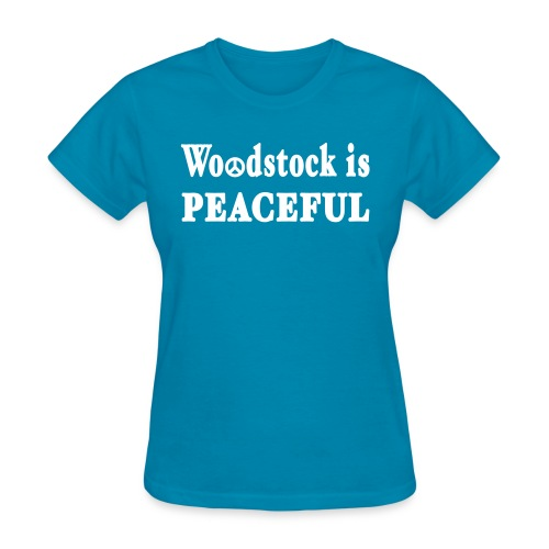 New York Old School Woodstock is Peaceful - Women's T-Shirt