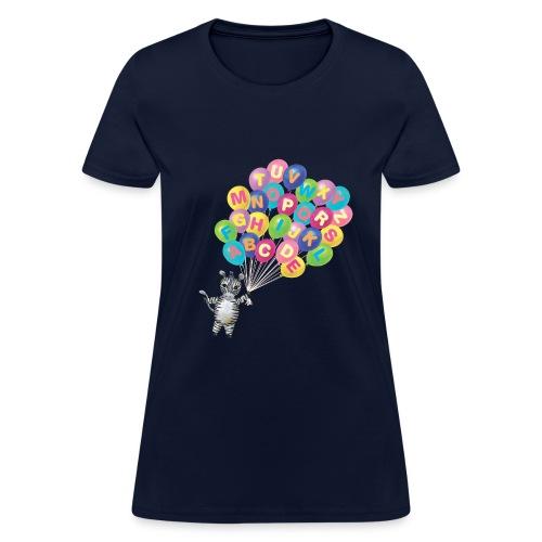 Balloons Zebra - Women's T-Shirt
