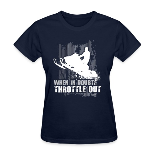 Snowmobile Doubt Throttle - Women's T-Shirt