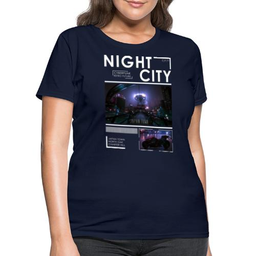 Night City Japan Town - Women's T-Shirt
