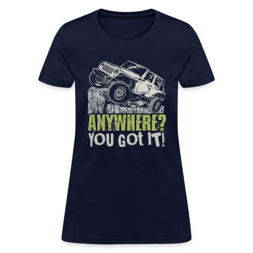Jeep Anywhere - Women's T-Shirt