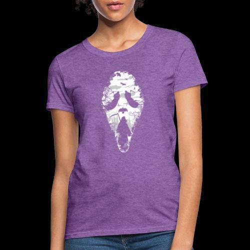 Reaper Screams   Scary Halloween - Women's T-Shirt