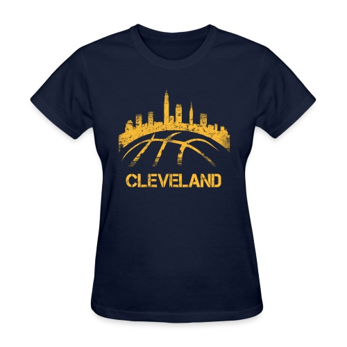 Cleveland Basketball Skyline - Women's T-Shirt