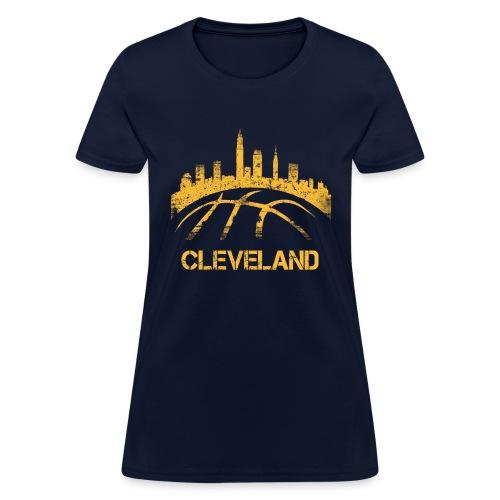 Cleveland Basketball Skyline - Women's T-Shirt