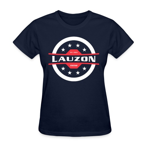 White on Black Lauzon MMA Logo w No Words - Women's T-Shirt