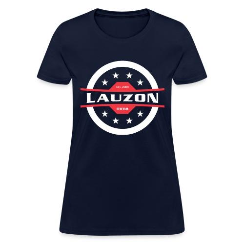 White on Black Lauzon MMA Logo w No Words - Women's T-Shirt