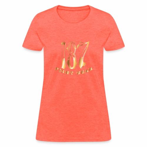 187 Fight Gear Gold Logo Street Wear - Women's T-Shirt