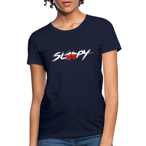 Sleepy Logo White/Red Eyes - Women's T-Shirt