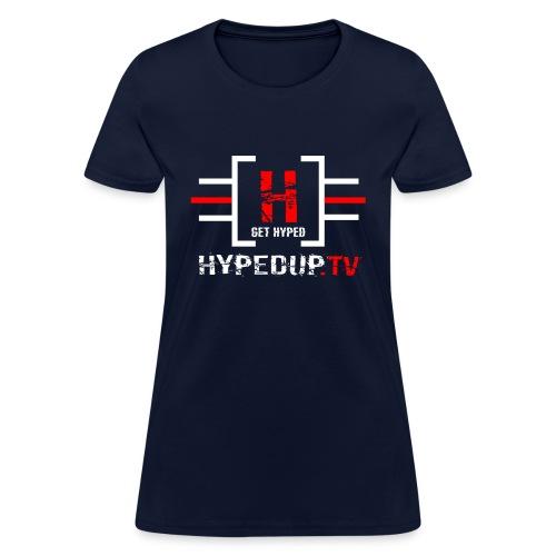 HypedUpTV Red/White - Women's T-Shirt
