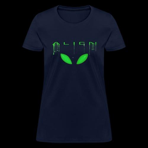 Alien Dribble with ET eyes - Green - Women's T-Shirt