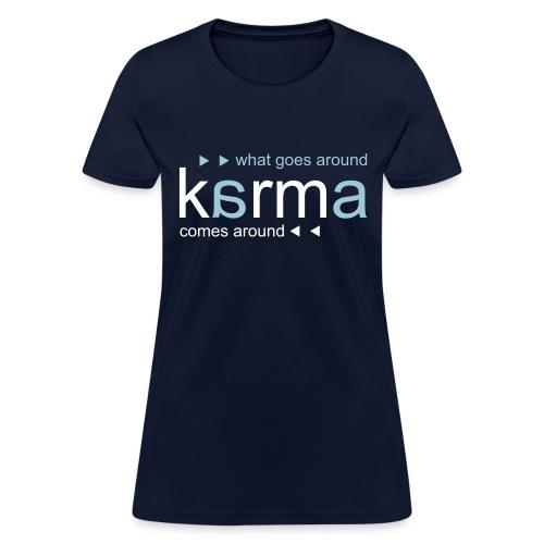 Karma Blue - Women's T-Shirt