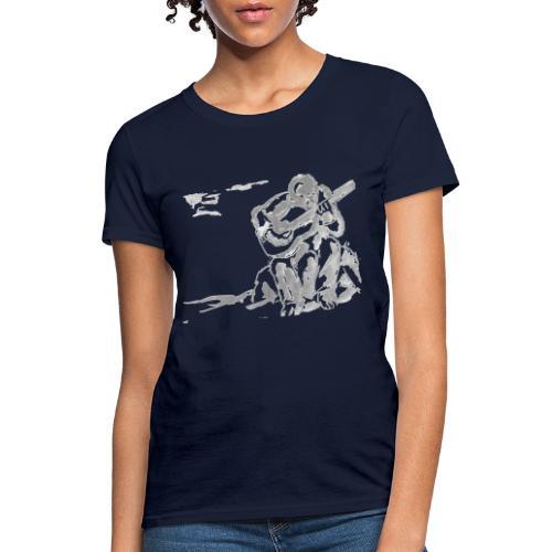 guitar player art no background - Women's T-Shirt