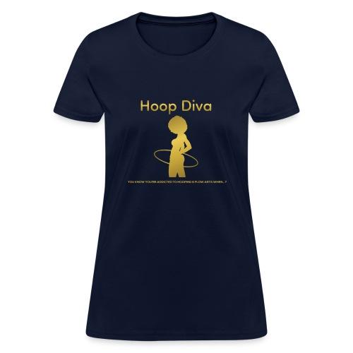 Hoop Diva - Gold - Women's T-Shirt