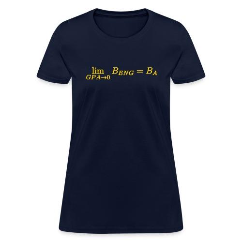 Limit GPA to zero B.Eng is B.A - Women's T-Shirt