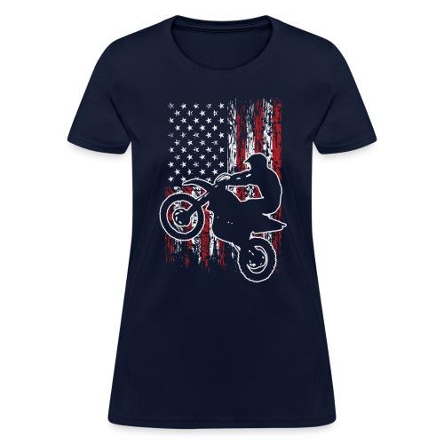 Motocross USA Stunt Biker - Women's T-Shirt