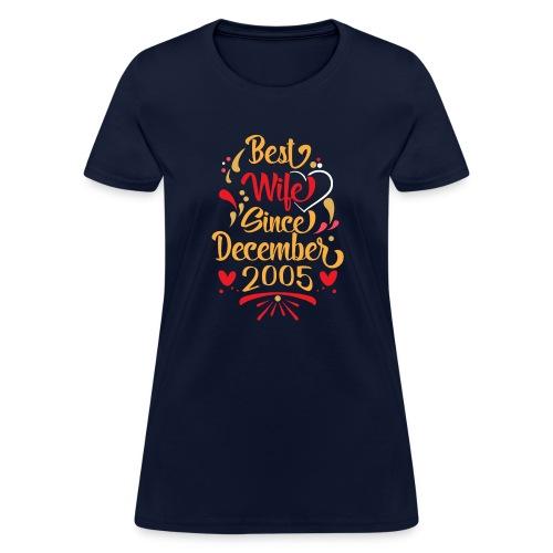 best wife since december 2005 - Women's T-Shirt
