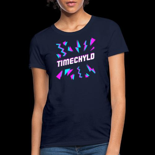 Timechyld Logo with Retro Pattern - Women's T-Shirt