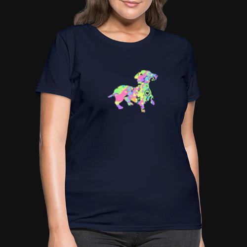 dachshund silhouette splatter - Women's T-Shirt