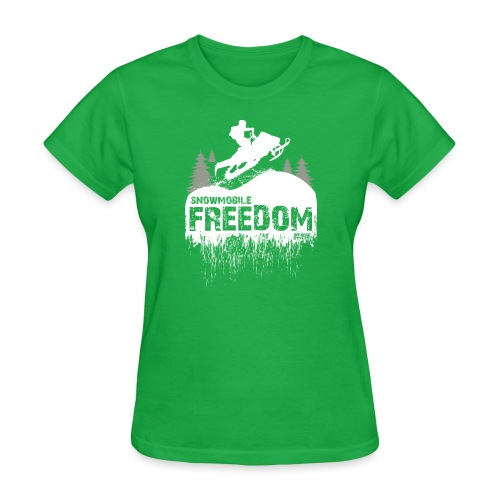 Snowmobile Freedom - Women's T-Shirt