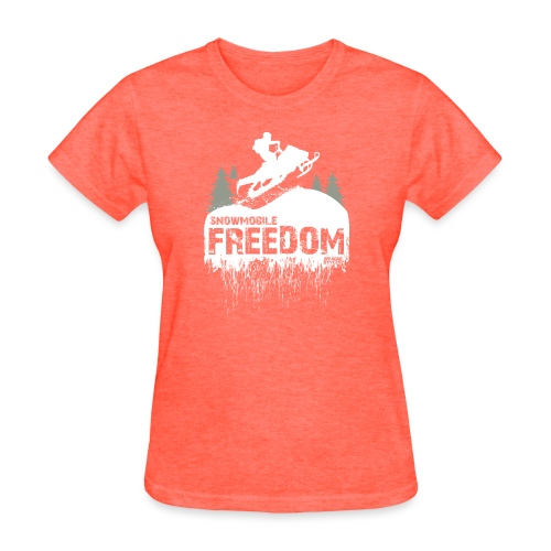 Snowmobile Freedom - Women's T-Shirt