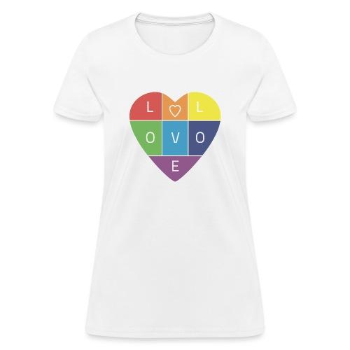 Rainbow Heart - Women's T-Shirt