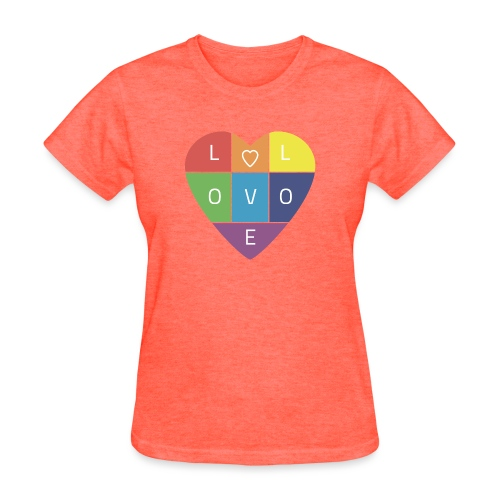 Rainbow Heart - Women's T-Shirt