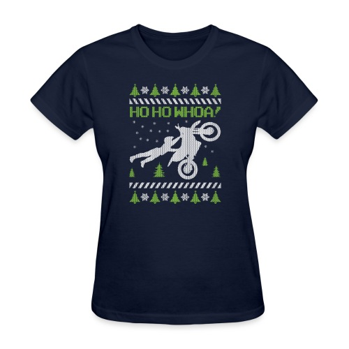 Motorcycle Ugly Christmas - Women's T-Shirt