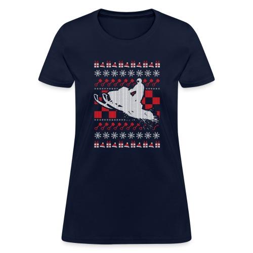Snowmobile Ugly Christmas - Women's T-Shirt