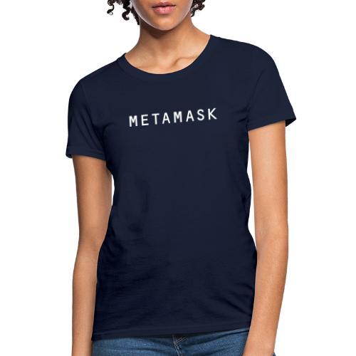 MetaMask Wordmark White - Women's T-Shirt