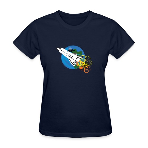 Space Bat Hitching A Ride Ladies Tee - Women's T-Shirt