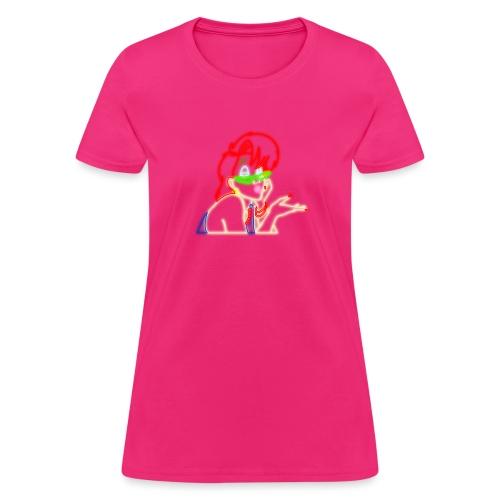 Neon Janine w o Hearts - Women's T-Shirt