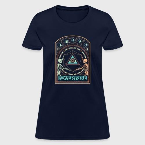 art nouveau d20 skeletons dungeons fantasy gift - Women's T-Shirt