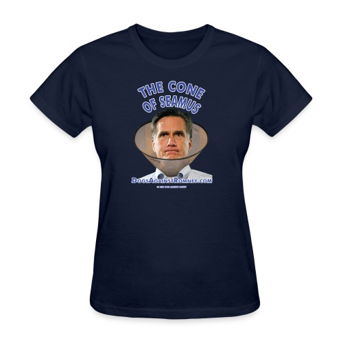 coneshirts300dpiblue text - Women's T-Shirt