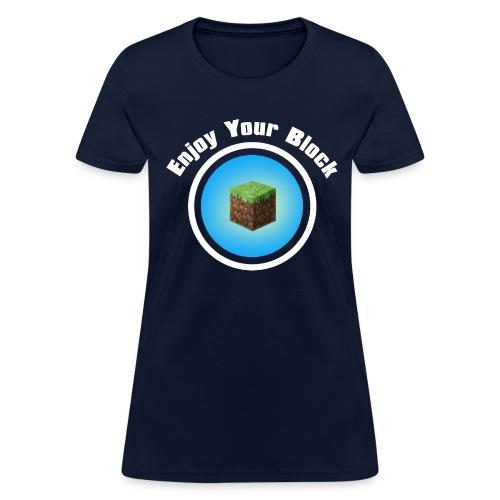 enjoy block white - Women's T-Shirt