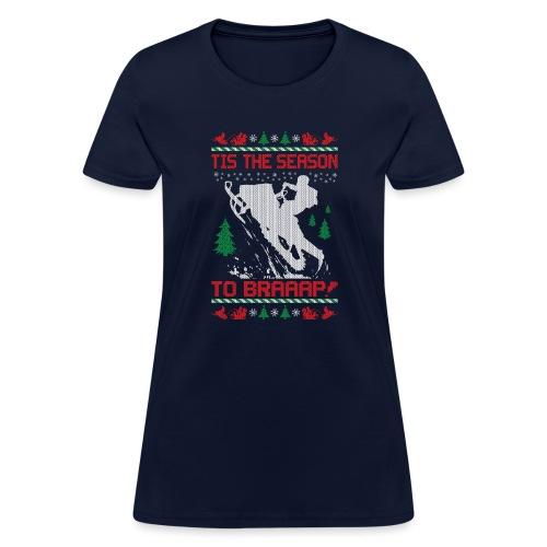 Snowmobile Christmas Ride - Women's T-Shirt