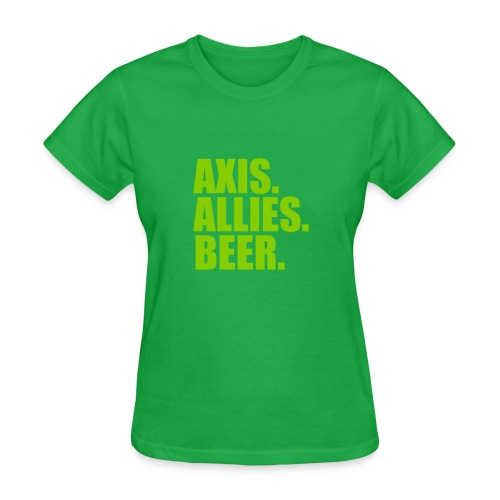Axis. Allies. Beer. Axis & Allies - Women's T-Shirt
