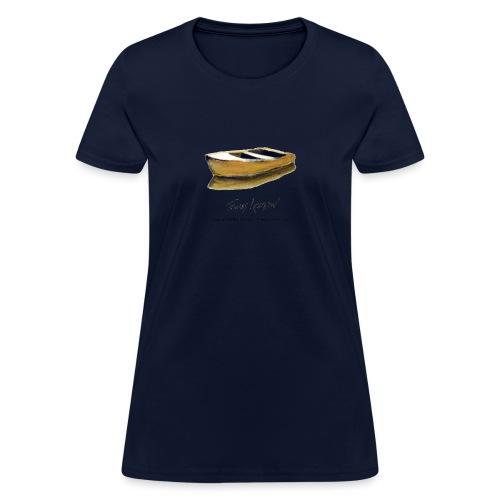 Yellow Boat Tshirt design - Women's T-Shirt