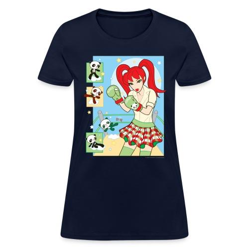 Red Banza Chicks Cartoon School Girl Ladies - Women's T-Shirt