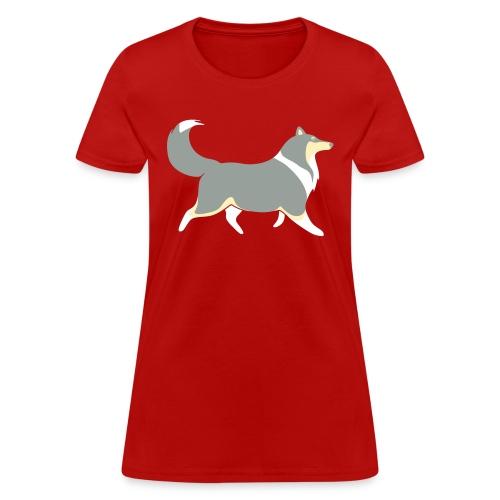 Merle Collie silhouette - Women's T-Shirt